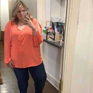 NWT coral blouse, the limited size 3X
